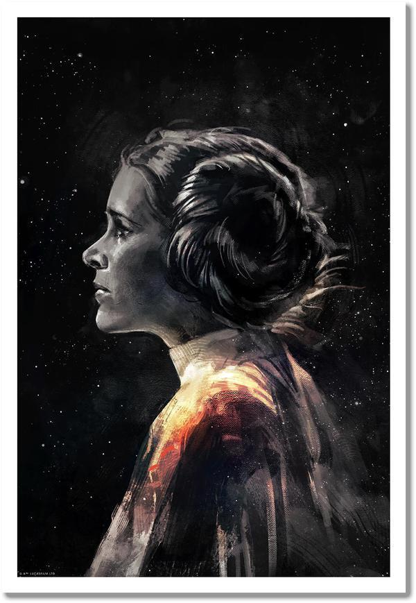 """Rey, Kylo, Luke & Leia"" by Alice X. Zhang Star Wars Timed Set of 4 Giclee Prints"
