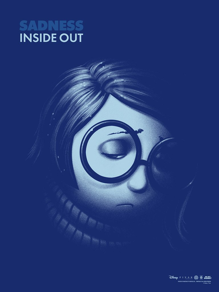 Inside Out: Sadness By Phantom City Creative Screen Print