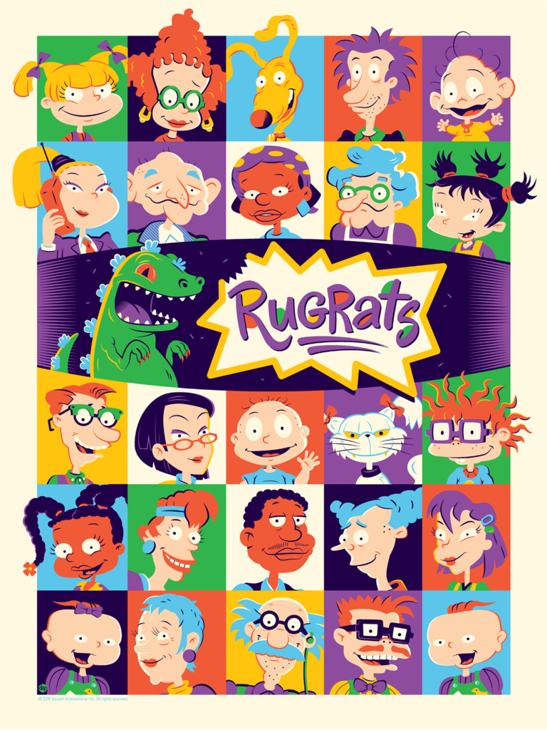 Rugrats by Dave Perillo Screen Print