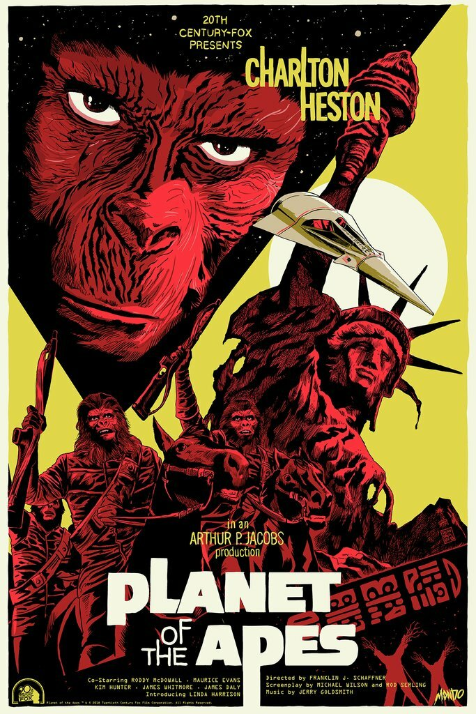 Planet of the Apes by Francesco Francavilla Screen Print