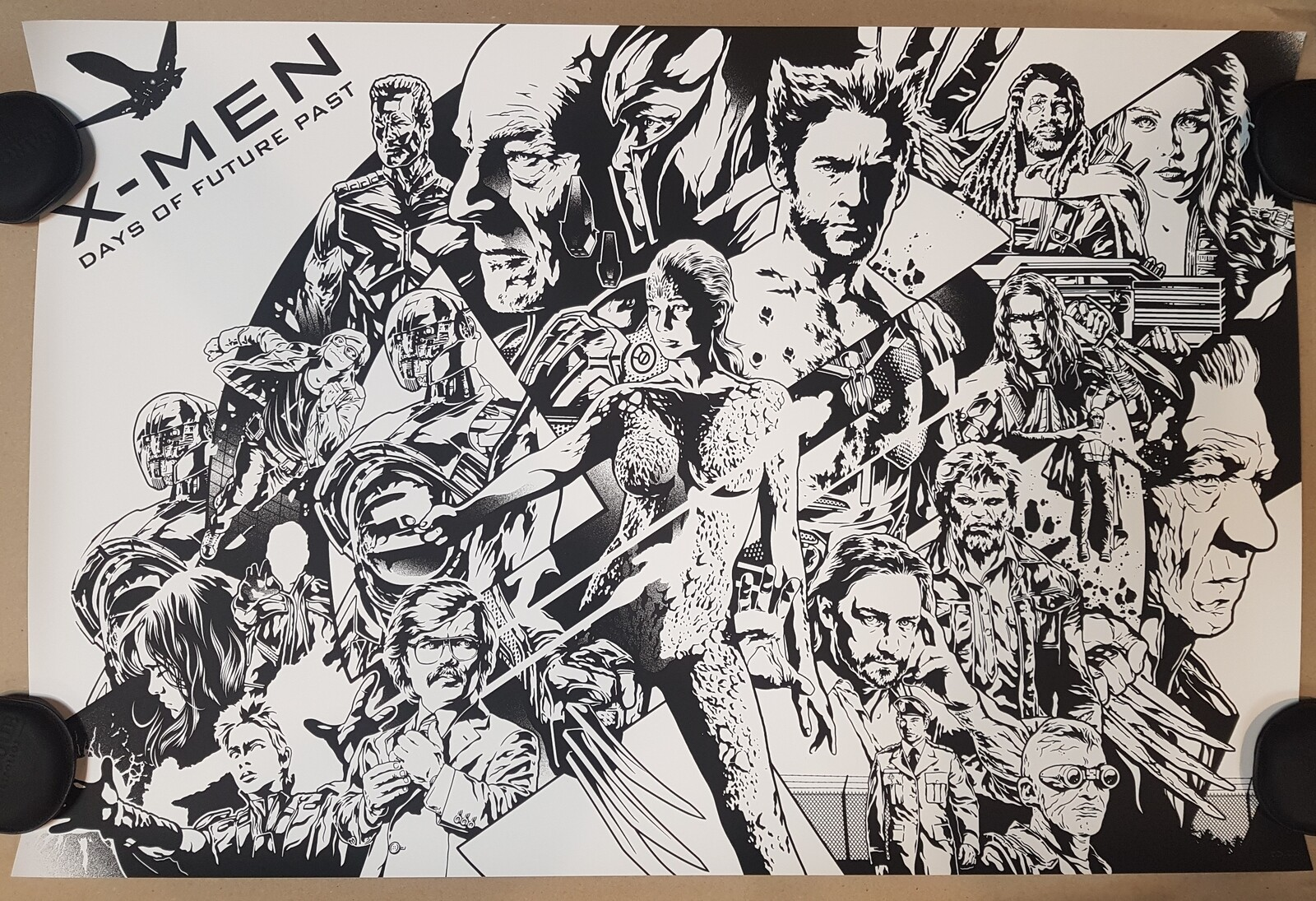 X-Men Days Of Future Past Keyline Variant by Alexander Iaccarino Screen Print
