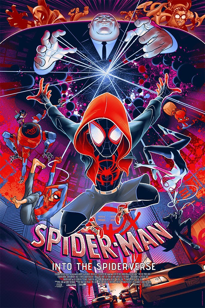 Spiderman: Into the Spider-Verse by Martin Ansin Timed Screen Print