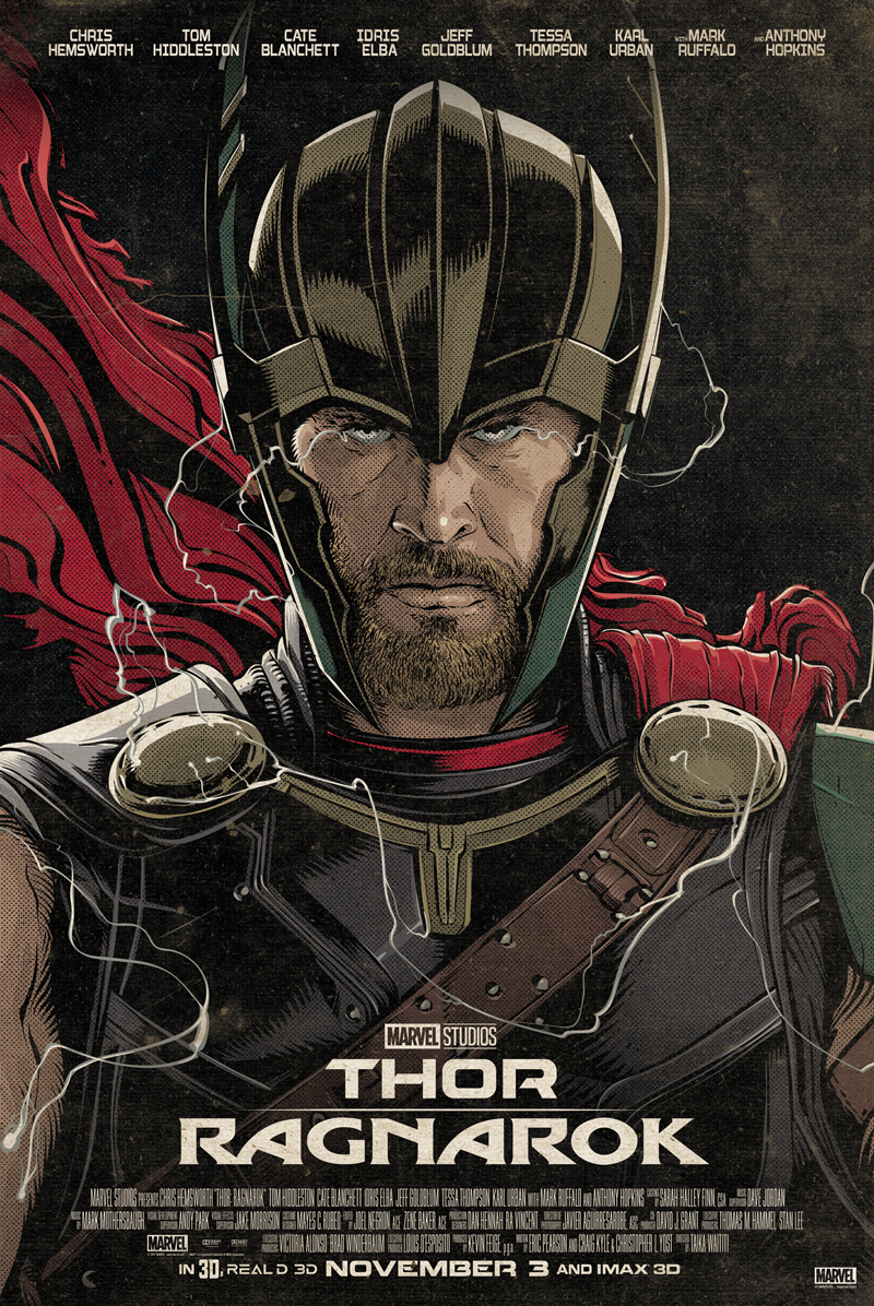 """Thor - The Contender"" by Cristiano Siqueira Thor Ragnarok Giclee Print"