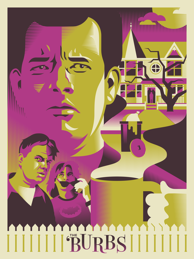 """Do Not Mess With Suburbanites"" by Ryan Brinkerhoff The Burbs Screen Print"