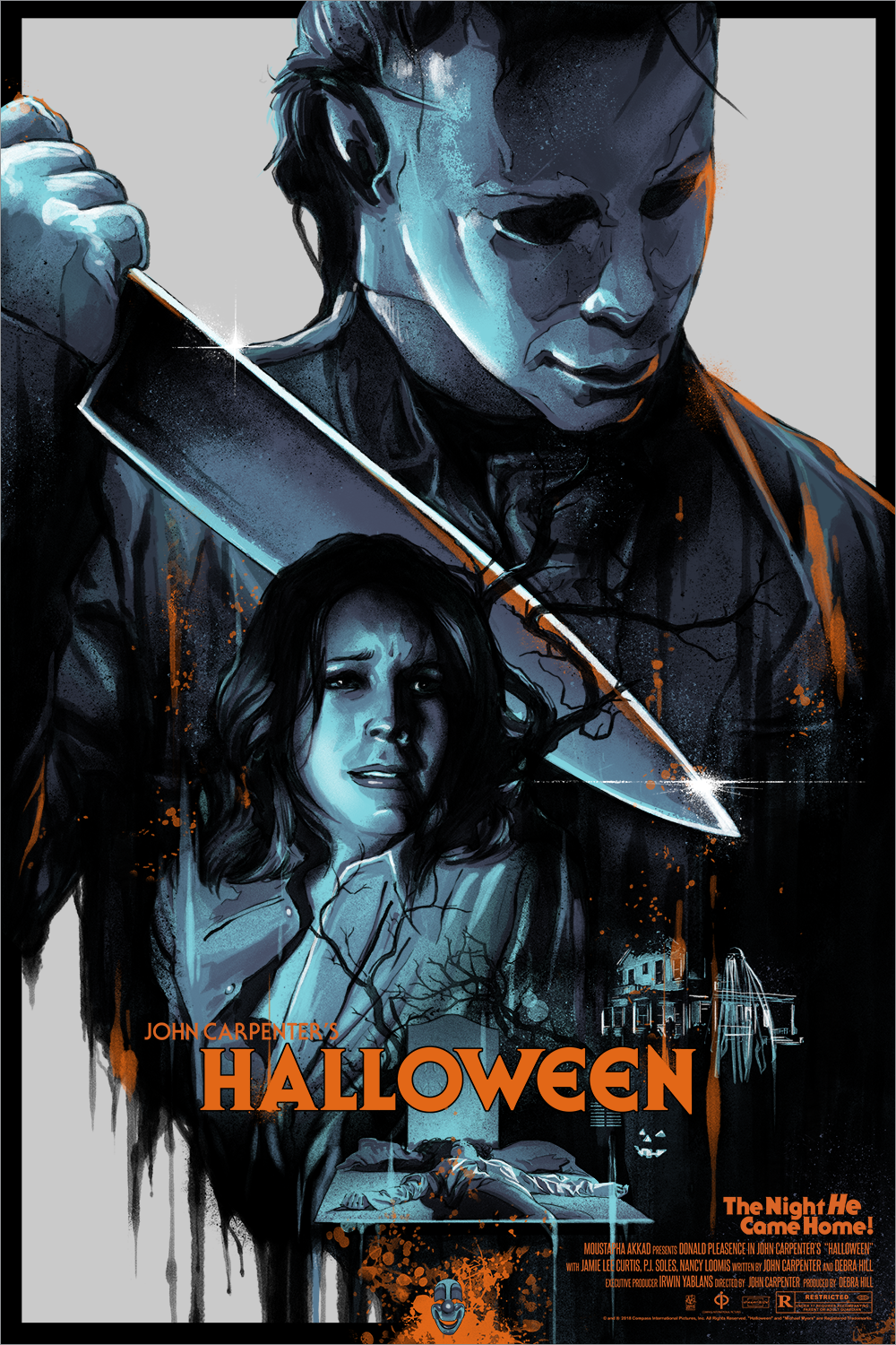 """Michael Comes Home"" by Vance Kelly Halloween Screen Print"